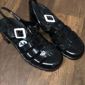 Juju jelly sandals black